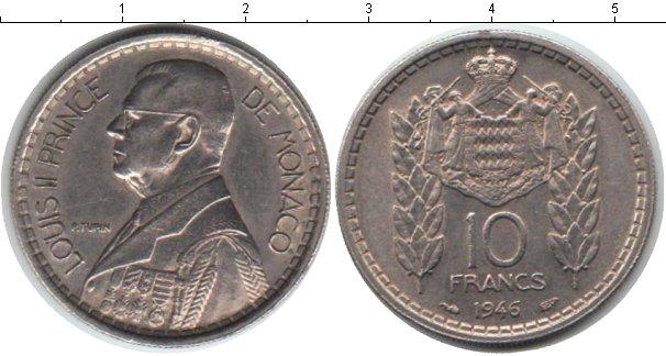 Картинка Мелочь Монако 10 франков Медно-никель 1946