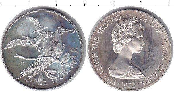 Картинка Монеты Виргинские острова 1 доллар Серебро 1973