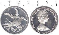 Изображение Монеты Виргинские острова 1 доллар 1974 Серебро UNC- Птицы