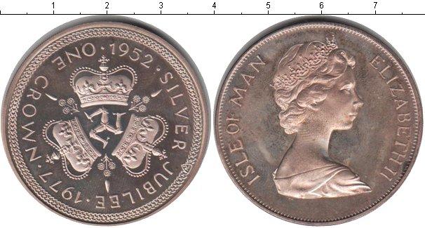 Картинка Монеты Остров Мэн 1 крона Серебро 1977
