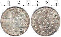 Изображение Монеты ГДР 10 марок 1974 Серебро XF 25 лет ГДР