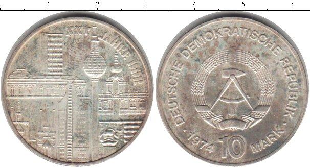 Картинка Монеты ГДР 10 марок Серебро 1974