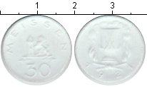 Изображение Монеты Нотгельды 30 пфеннигов 1921 Керамика XF г.Мейсен в Саксонии,