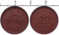 Изображение Монеты Саксония 20 пфеннигов 1921 Керамика XF нотгельд