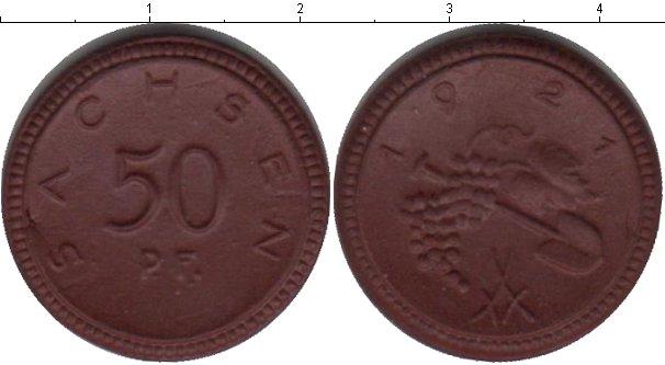 Картинка Монеты Саксония 50 пфеннигов Керамика 1921