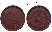 Изображение Монеты Саксония 2 марки 1921 Керамика XF нотгельд