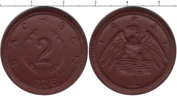 Картинка Монеты Саксония 2 марки Керамика 1921