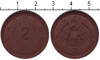 Изображение Монеты Саксония 2 марки 1921 Керамика XF