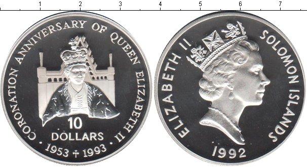 Картинка Монеты Соломоновы острова 10 долларов Серебро 1993