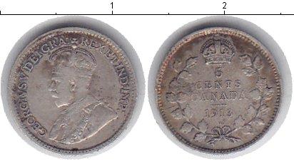 Картинка Монеты Канада 5 центов Серебро 1913
