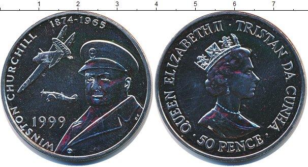 Картинка Мелочь Тристан-да-Кунья 50 пенсов Медно-никель 1999