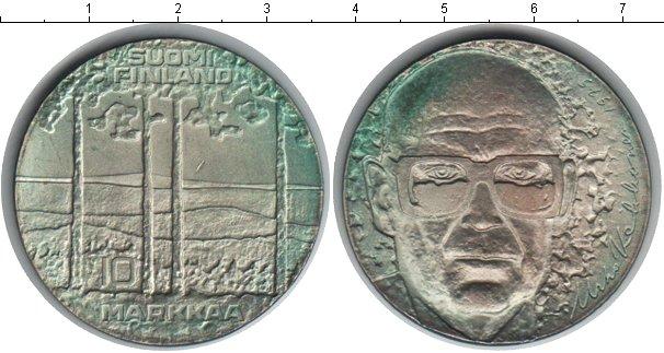 Картинка Монеты Финляндия 10 марок Серебро 1975