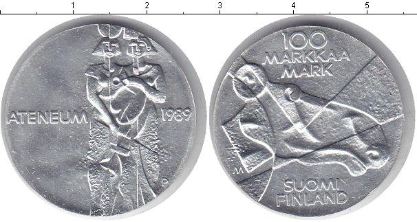 Картинка Монеты Финляндия 100 марок Серебро 1989
