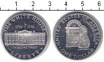 Изображение Монеты США 1 доллар 1992 Серебро Proof- 200-летие Белого Дом