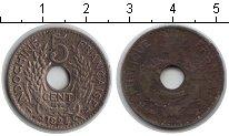 Изображение Монеты Индокитай 5 центов 1924 Медно-никель VF
