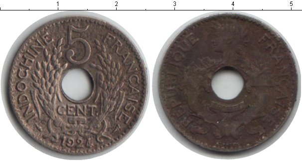 Картинка Монеты Индокитай 5 центов Медно-никель 1924