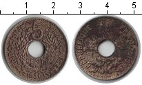 Изображение Монеты Индокитай 5 центов 1939 Медно-никель VF