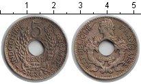Изображение Мелочь Индокитай 5 центов 1939 Медно-никель VF