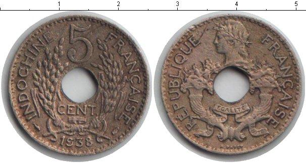 Картинка Мелочь Индокитай 5 центов Медно-никель 1939
