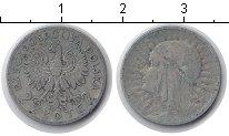 Изображение Монеты Польша 2 злотых 1933 Серебро VF Королева Ядвига