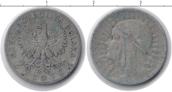 Картинка Монеты Польша 2 злотых Серебро 1933