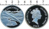 Изображение Монеты Соломоновы острова 25 долларов 2003 Серебро Proof- Елизавета II. Конкор