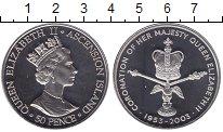 Изображение Мелочь Остров Вознесения 50 пенсов 2003 Медно-никель UNC