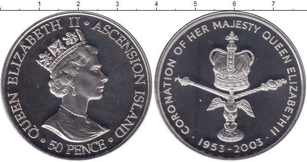 Картинка Мелочь Остров Вознесения 50 пенсов Медно-никель 2003