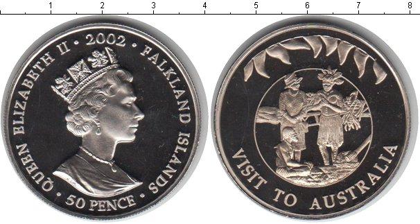 Картинка Мелочь Фолклендские острова 50 пенсов Медно-никель 2002