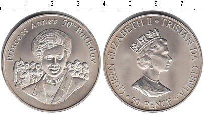 Картинка Мелочь Тристан-да-Кунья 50 пенсов Медно-никель 2000