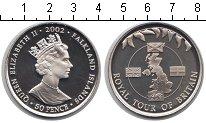 Изображение Мелочь Фолклендские острова 50 пенсов 2002 Медно-никель UNC- Елизавета II