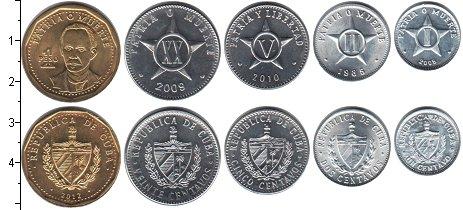 Изображение Наборы монет Куба Куба 1985-2013 1985  UNC- В наборе 5 монет ном