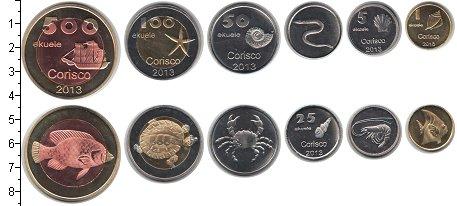 Изображение Наборы монет Кориско Кориско 2013 2013 Медно-никель UNC- Фауна. В наборе 6 мо