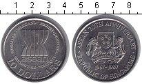 Изображение Монеты Сингапур 10 долларов 1987 Медно-никель UNC-