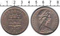 Изображение Мелочь Гибралтар 1 крона 1967 Медно-никель XF