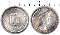 Изображение Монеты Филиппины 50 сентаво 1947 Серебро UNC KM# 184