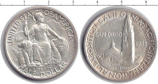 Картинка Монеты США 1/2 доллара Серебро 1935