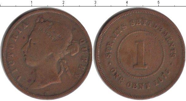 Картинка Монеты Стрейтс-Сеттльмент 1 цент Медь 1875