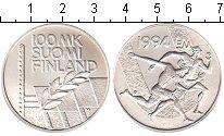 Изображение Монеты Финляндия 100 марок 1994 Серебро UNC-