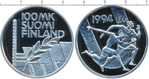 Картинка Монеты Финляндия 100 марок Серебро 1994