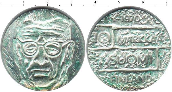 Картинка Монеты Финляндия 10 марок Серебро 1970