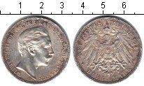 Изображение Монеты Пруссия 3 марки 1912 Серебро VF Вильгельм II