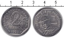Изображение Мелочь Франция 2 франка 1993 Медно-никель UNC-