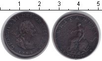Изображение Монеты Великобритания 1 фартинг 1799 Медь VF Георг III