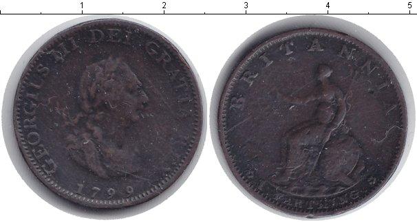 Картинка Монеты Великобритания 1 фартинг Медь 1799