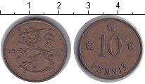 Изображение Мелочь Финляндия 10 пенни 1937 Медь XF