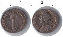 Изображение Монеты Великобритания 1 пенни 1752 Серебро  Отверстие. Георг II