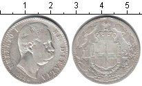 Изображение Монеты Италия 2 лиры 1884 Серебро