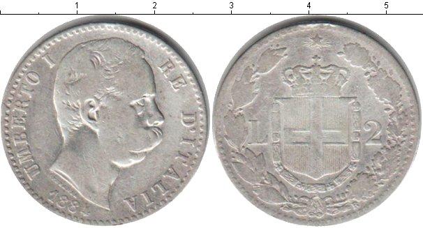 Картинка Монеты Италия 2 лиры Серебро 1884