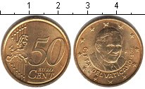 Изображение Монеты Ватикан 50 евроцентов 2010   Павел II